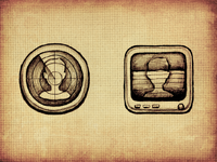 The sketch of Identity recognition icon