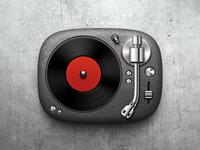 Vinyl record player icon