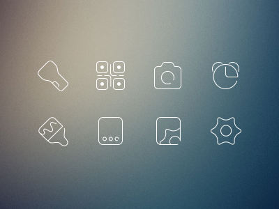 Small line icons