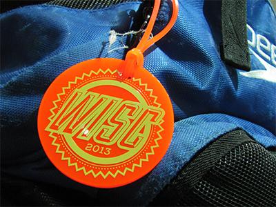 Swim Bag Tag bag tag swim swimming logo typography