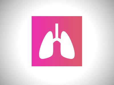 Breathable Icon graphic design lung illustration icon