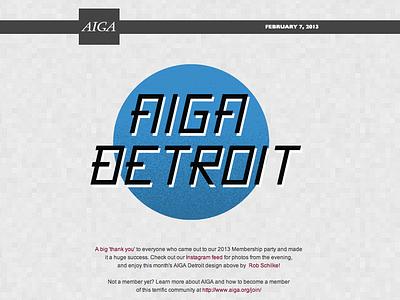 AIGA Detroit Newsletter Typography web detroit aiga typography