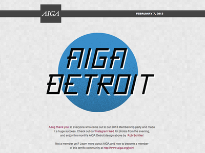 AIGA Detroit Newsletter Typography