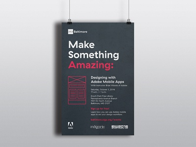 Baltimore Innovation Week 2016 typography graphic design tabloid poster baltimore aiga adobe