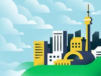 Toronto 😎 water textures kira blue city cntower clouds skyline toronto