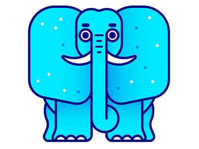 Elephant pink blue elephant illustration kevinmoran