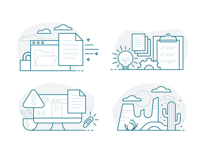 Empty State Illustrations icons illustration ui empty state app