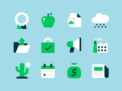Icons, Icons, Icons (again) lock icons startups event cactus news paper folder badge apple cloud