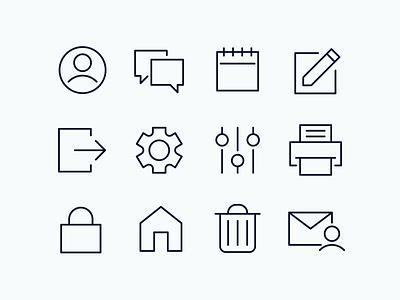 FREE ICONS! kevinmoran freebies icons design svg vector icons set design monoline ui download free icons
