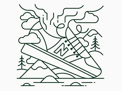 Stinky New Balance's toronto design trees illustration illustrator vector lineart mountain stink shoe 420