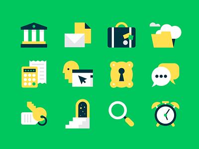 Icons, Icons, Icons (again...) icons navigation toronto tech calculator kira green bank lock key suitcase