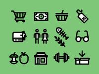 Shop+Health Icons