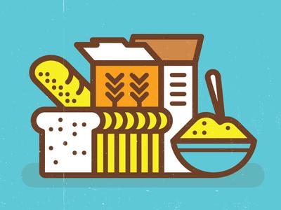 Grains kevinmoran blue yellow barley oats grains toast bread cereal
