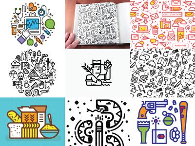 Best of Nine 2015 dribbble vector patterns kevinmoran illustration nine best