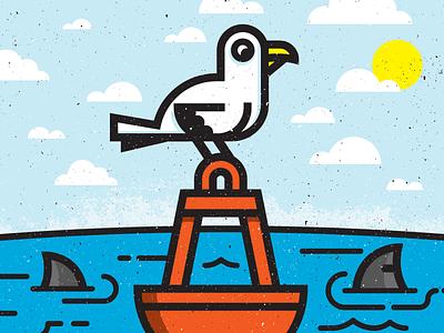 Fly Away Bird kevinmoran toronto sun clouds sky sharks blue water seagull