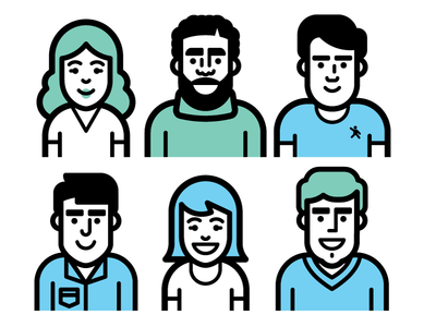 Friends! icon vector people avatar profile hair drake kevinmoran concept