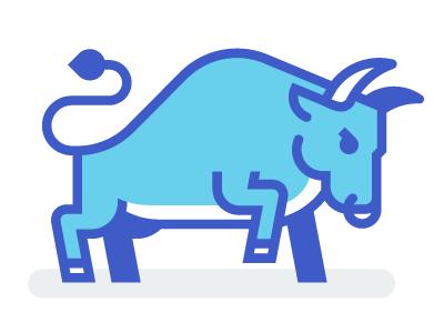Bull  stickermule basketball university kevinmoran blue buffalo bull