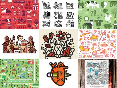 Best of Nine 2016 trees smelly illustration icons dribbble kevinmoran best 2016