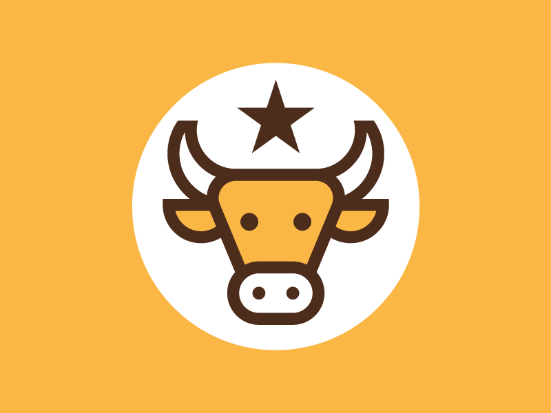 🐂 kevin circle horns star orange cow bull