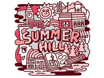 Summerhill pink red city trees kevinmoran toronto summerhill