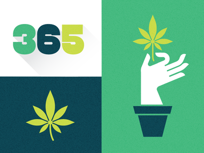 365 Dispensary weed cannabis 365 dispensary plant marijuana logo brand