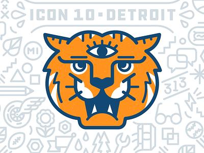 ICON10 / Detroit orange conference bolt 313 eye detroit tiger
