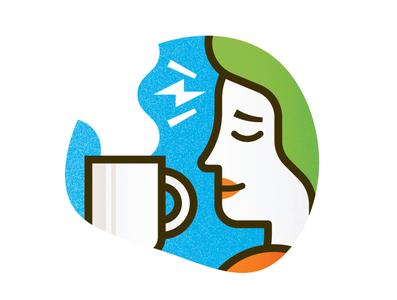 Reader's Digest Spots illustration spot shoe running headache