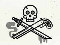 Sword, Shotgun & Skull