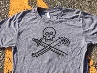 Sword, Shotgun & Skull -Printed