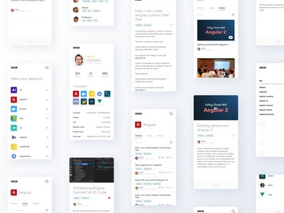 Developer Community concept uxdesign ux uidesign ui developers developer forum community design clean website mobile
