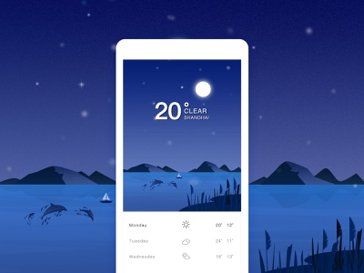 weather night app spring clear weather