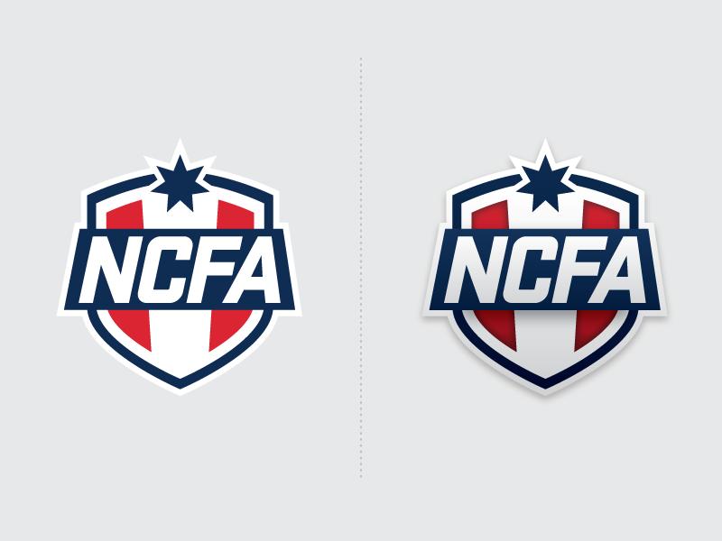 NCFA Graphic Logo football fantasy sports college football logo league ncfa