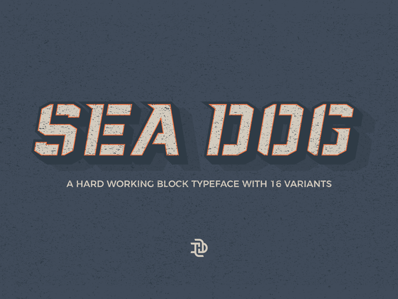 Sea Dog Font - Now Available sports design retro sports naval block stencil typography display typeface font