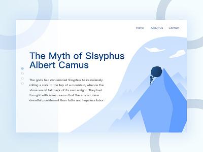 Sisyphus ui blue illustrator sisyphus