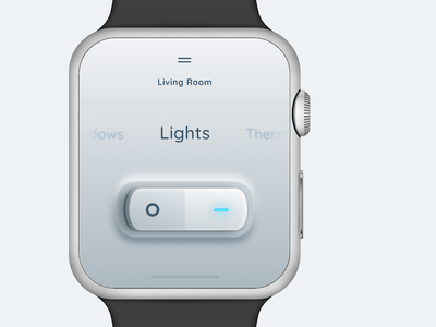 On/Off Switch smart app watchui ui ux apple toggle home controller lights switch smartwatch watch dailyui