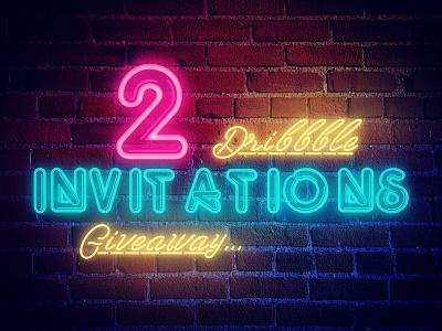 Invites Available! city street light art neon dribbble ball invitations invites invitation invite draft