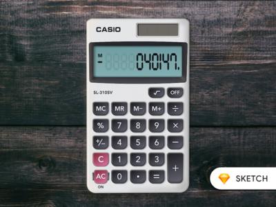 Calculator (Casio SL-310SV)