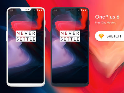 OnePlus 6 Device Clay Mockup frame template clay mockups mockup phone mobile device 6 1 oneplus