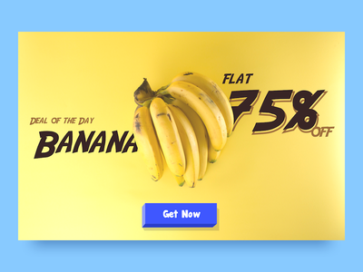 Special Offer 3d fruits ui cart pricing offer yellow minion banana dailyui