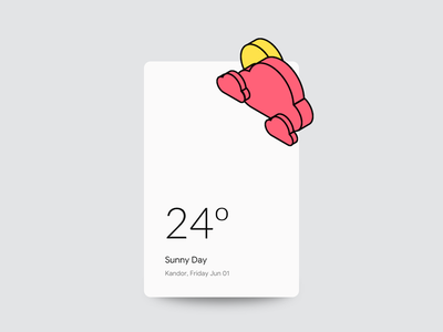 Weather card climate temperature sun white ui minimal clean cloud weather dailyui