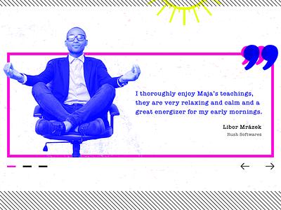 Testimonials meditate testimonial ui corporate yoga xray grudge comic quote customer dailyui