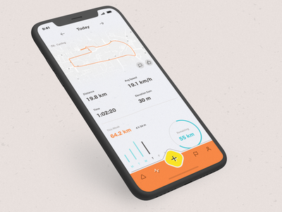 Workout Tracker mobile retro analytics progress chart dashboard stats report workout fitness cycling dailyui