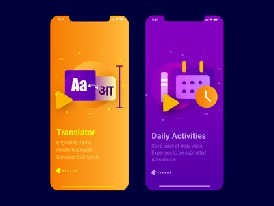 Translator and Daily Activities mobile app
