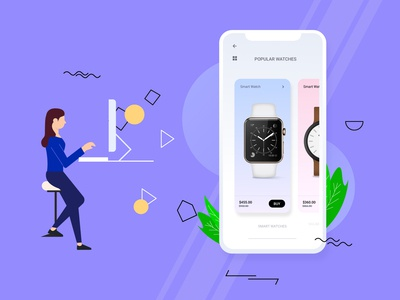 E-commerce app illustrations