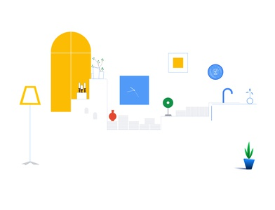 Google concept_smart home illustration designs