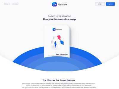 website landing page ux ideation mayilsamy ui illustration creative user experience landing page