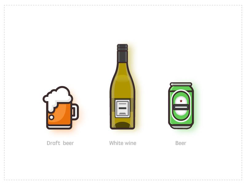 酒类小插图 矢量 插画