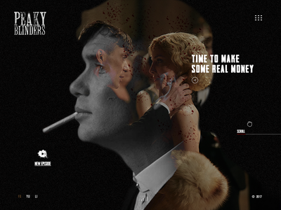 Peaky Blinders interface bbc person web design ux inspiration ui peaky blinders film serial landing page shelby