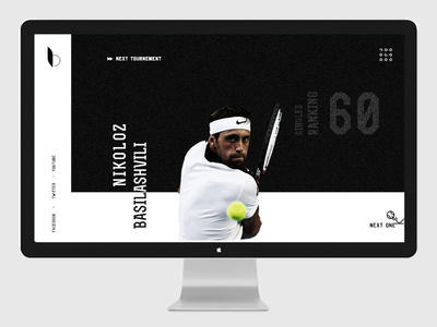 Tennis player personal website design