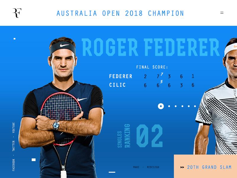 b342253b Roger Federer stats interface australia open score inspiration ux champion  legend blue sport tennis roger federer